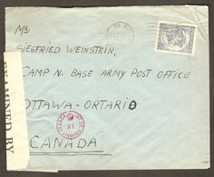 German Jewish Refugee POW Canada 1941 Camp N Sherbrooke Censor Cover From Argentina From Siegfried Weinstein To Neumann - Mauritania (1906-1944)