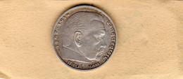 Monnaie D'Allemagne De 5 Reichsmark 1935 En Argent Lettre E - T T B - - [ 4] 1933-1945 : Third Reich