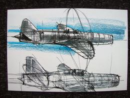 AEREO JET CAPRONI CAMPINI 50° Volo Postale 30 Novembre 1941-1991 - 1939-1945: 2ème Guerre