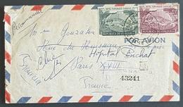 1958 Cover, Caracas Venezuela - Paris France - Venezuela