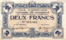 6956-2019    BILLET CHAMBRE DE COMMERCE  D ABBEVILLE - Chamber Of Commerce