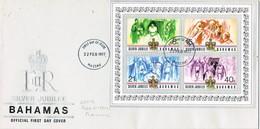 32760. Carta F.D.C. NASSAU (Bahamas) 1977. Hojita, Shet Silver Jubilee Elisabeth II - Bahamas (1973-...)