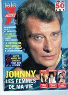 Télé 7 Jours 26 Juin Au 2 Juillet 1993 - Johnny Les Femmes De Ma Vie - - Fernsehen