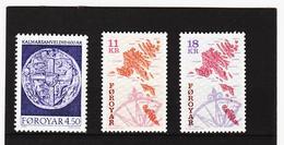 POL1893 DÄNEMARK - FÄRÖER 1997  Michl 319/21 Postfrisch SIEHE ABBILDUNG - Färöer Inseln
