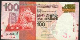 HONG-KONG P214b 100  DOLLARS 1.1.2012  #FU  HSBC VF NO P.h. - Hong Kong
