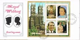 32761. Carta F.D.C. RAROTONGA (Cook Islands) 1973. Royal Wedding Princess Anne - Cook Islands