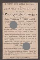 HOUSSE ( Blegny ) 1899 Mme GRANDJEAN Vve  ANDERNACK Imprimé à Wandre - Décès