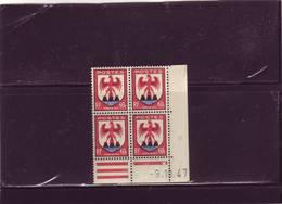 N°758 - 60c Blason De NICE - B De A+B - 9° Tirage Du 9.10 Au 10.10.47 - 1° Jour - - 1940-1949