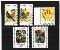 POL1896 DÄNEMARK - FÄRÖER 1998  Michl 332/33 + 338/40 Postfrisch SIEHE ABBILDUNG - Färöer Inseln