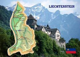 Liechtenstein Country Map New Postcard Landkarte AK - Liechtenstein