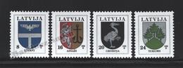 Lettonie – Latvia – Letonia 1995 Yvert 359-62, Definitive Set, Coat Of Arms - MNH - Lettland