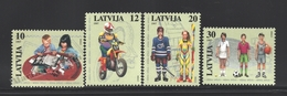 Lettonie – Latvia – Letonia 1997 Yvert 419-22, Childrens Activities - MNH - Lettonia