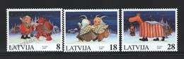 Lettonie – Latvia – Letonia 1997 Yvert 428-30, Christmas - MNH - Lettland