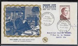 FDC 1954 - 994 Célébrités: Paul Valery - 1950-1959