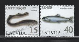 Lettonie – Latvia – Letonia 2005 Yvert 612-13, Fauna, Fishes - MNH - Lettland