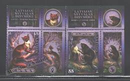 Lettonie – Latvia – Letonia 2008 Yvert 716-17, Wild Latvian Fauna - MNH - Letonia