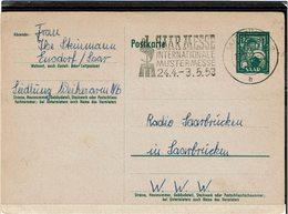 DIV1 -  SARRE CARTE POSTALE CIRCULEE - 1947-56 Occupation Alliée