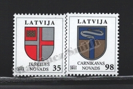 Lettonie – Latvia – Letonia 2011 Yvert 773-74, Definitive Set, Coat Of Arms - MNH - Lettonie