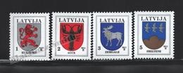 Lettonie – Latvia – Letonia 2011 Yvert 779-82, Definitive Set, Coat Of Arms - MNH - Lettonie