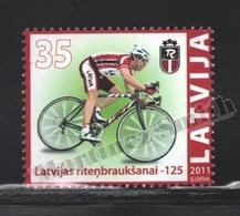 Lettonie – Latvia – Letonia 2011 Yvert 788, Sports, 125th Ann. Cycling In Latvia - MNH - Lettonie