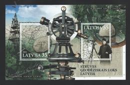 Lettonie – Latvia – Letonia 2011 Yvert BF 28, Struve Geodesic Arc – Miniature Sheet - MNH - Lettonie