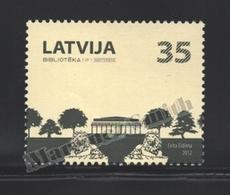Lettonie – Latvia – Letonia 2012 Yvert 801, Architecture, Library - MNH - Lettonie