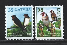 Lettonie – Latvia – Letonia 2012 Yvert 815-16, Fauna, Latvian Birds - MNH - Lettonie