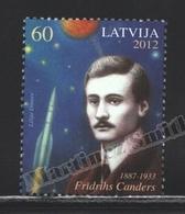 Lettonie – Latvia – Letonia 2012 Yvert 819, 125th Ann. Birth Of Friederich Tsander, Astronomy - MNH - Lettonie