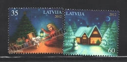 Lettonie – Latvia – Letonia 2012 Yvert 827-28, Christmas - MNH - Lettonie