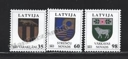 Lettonie – Latvia – Letonia 2013 Yvert 829-31, Definitive Set, Coat Of Arms - MNH - Lettonie