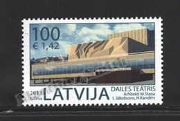 Lettonie – Latvia – Letonia 2013 Yvert 833, Modern Architecture, Dailes Theatre - MNH - Lettonie