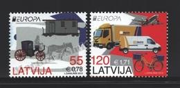 Lettonie – Latvia – Letonia 2013 Yvert 835-36, Europa Cept. Postal Vehicles - MNH - Lettonie
