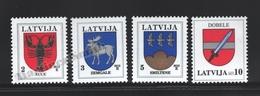 Lettonie – Latvia – Letonia 2013 Yvert 839-42, Definitive Set, Coat Of Arms - MNH - Lettonie