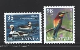 Lettonie – Latvia – Letonia 2013 Yvert 837-38, Fauna, Birds Of Latvia - MNH - Letonia