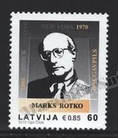 Lettonie – Latvia – Letonia 2013 Yvert 848, Mark Rothko, American Painter - MNH - Lettonie