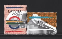 Lettonie – Latvia – Letonia 2014 Yvert 864-65, Cities Of Umea (Sweden) & Riga (Latvia) - MNH - Lettonie