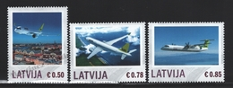 Lettonie – Latvia – Letonia 2014 Yvert 867-69, Personalized Stamps, Aviation, Airplanes - MNH - Lettonie