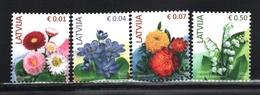 Lettonie – Latvia – Letonia 2014 Yvert 874-77, Definitive Set, Flora, Flowers - MNH - Lettonie