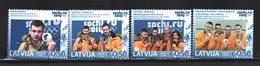 Lettonie – Latvia – Letonia 2014 Yvert 884-87, Latvian Medallists Sotchi Winter Olympic Games - MNH - Letonia