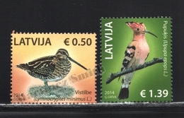 Lettonie – Latvia – Letonia 2014 Yvert 882-83, Fauna, Birds - MNH - Lettonie