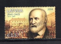 Lettonie – Latvia – Letonia 2014 Yvert 888, Bicentenary Birth Of Janis Cimze - MNH - Lettonie