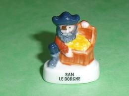 """Fèves / Autres / Divers : Same Le Borgne  """" Banette """"  T77 - Santons/Fèves"""