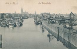 R010965 Koln A. Rh. Der Rheinauhafen. Leo Kurten - Cartoline
