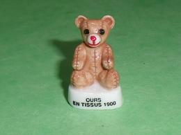 Fèves / Autres / Divers : Ours En Tissus 1900 , Peluche T77 - Santons/Fèves
