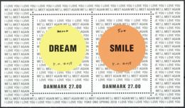 Denmark 2018.  Yoko Ono Art. Souvenir Sheet.  Michel Bl.69 MNH. - Blocchi & Foglietti