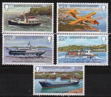 Guernsey Set Of Stamps To Celebrate Inter-Island Transport. - Guernsey