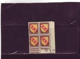 N°757 - 50c Blason De LA LORRAINE -B De A+B - 1° Tirage Du 21.6.46 Au 1.7.46 - 28.06.1946 - - 1940-1949