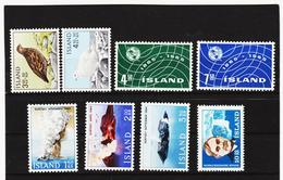 POL1816 ISLAND 1965  Michl 388/94 + 397 Postfrisch SIEHE ABBILDUNG - Ungebraucht