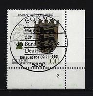 BUND Mi-Nr. 1586 Formnummer 2 Wappen Baden - Württemberg Gestempelt Berlin - BRD