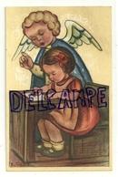Ange Qui Surveille Une Petite Fille Qui écrit. Schouten - Anges